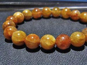 【送料無料】ブレスレット アクセサリ― 10mm3aルチルブレスレットgift bl234510mm rare 3a natural golden rutilated quartz round beads bracelet gift bl2345