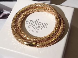 【送料無料】ブレスレット アクセサリ― エンドレスロペスゴールデンブレスレットクラスプendless jlopez 40cm golden reptile bracelet double strand yellow clasp rrp 65