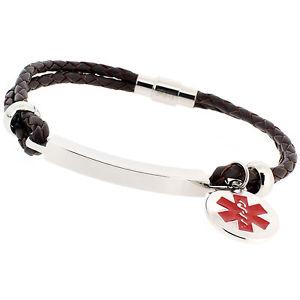 【送料無料】ブレスレット アクセサリ― メンズウィメンズファッションライフアラートブレスレットmens womens fashion life saving engraved medical sos id alert leather bracelet