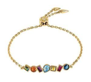 【送料無料】ブレスレット アクセサリ― クリスタルバーブレスレットミックススライドadore brilliance mixed crystal bar slide bracelet mixed crystalsgold plated