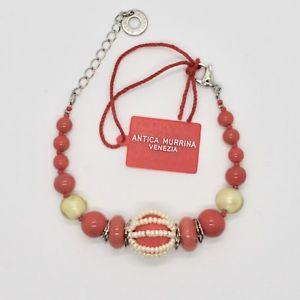 【送料無料】ブレスレット アクセサリ― ベネチアムラノガラスコーラルレッドブレスレットantica murrina venezia bracelet with murano glass coral red br742a25