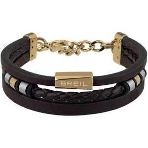 【送料無料】ブレスレット アクセサリ― ブレスレットアウターオスステンレススチールレザーブラウン breil bracelet outer male stainless steel, leather brown tj2670