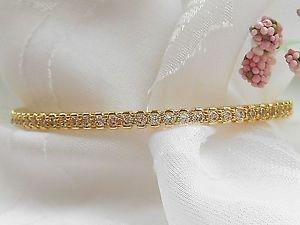 【送料無料】ブレスレット アクセサリ― イタリアクリスタルオーバルヒンジブレスレットqvcbronzo italia crystal oval hinged bracelet small 6 34