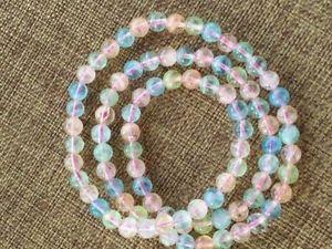 【送料無料】ブレスレット アクセサリ― クリアビーズブレスレットnatural colorful morganite gemstone clear beads bracelet 6mm aaaa