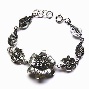 【送料無料】ブレスレット アクセサリ― ブレスレットフラワースターリングシルバーインチbeautiful bracelets flower sterling silver length 75 inch