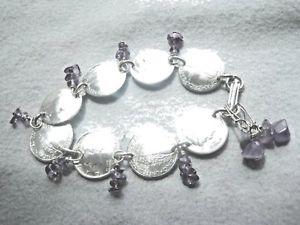 【送料無料】ブレスレット アクセサリ― アメジストドームフリーイヤリングダイムブレスレットmercury dime bracelet with amethyst~nicely domedfree earrings