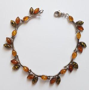 【送料無料】ブレスレット アクセサリ― ブレスレットシルバーオレンジpretty bracelet 925 silver and amber stonesx103
