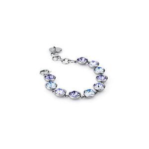 【送料無料】ブレスレット アクセサリ― ブレスレットパープルスチールbrosway, bracelet andtring, steel with swarovsky purple btn15, 0