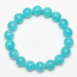 【送料無料】ブレスレット アクセサリ― クリスタルビーズブレスレットストレッチ104mm natural amazonite crystal gemstone stretch beads bracelet thbb001
