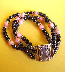 【送料無料】ブレスレット アクセサリ― ブレスレットビーズガラス825 bracelet beadsglass and rhinestones