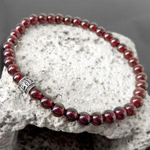 【送料無料】ブレスレット アクセサリ― ブレスレットガーネットスターリングシルバーマントラpassion heal bracelet high degree garnet amp; sterling silver om mantra