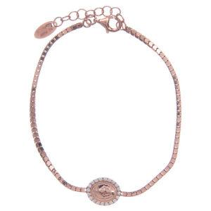 【送料無料】ブレスレット アクセサリ― シルバーピンクメダルアーメンブレスレットamen bracelet in silver 925 pink miraculous medal
