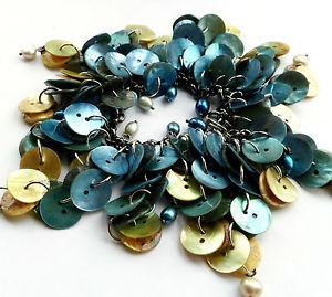 【送料無料】ブレスレット アクセサリ― シェルロングタッセルマーメイドブレスレットpearls and shell long tassel mermaid bracelet