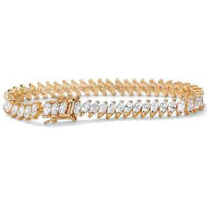 【送料無料】ブレスレット アクセサリ― kテニスブレスレット1325 tcw cz 14k goldplated tennis bracelet 7 14