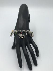 【送料無料】ブレスレット アクセサリ― ブライトンシルバークリスマスワンダーランドブレスレットbrighton silver christmas wonderland charm bracelet nwts
