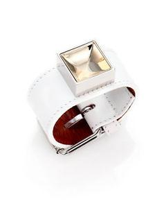 【送料無料】ブレスレット アクセサリ― ドルブレスレット authentic proenza schouler ps11 white leather 345 bracelet