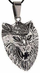 【送料無料】ブレスレット アクセサリ― グレートウルフヘッドステンレススチールペンダントチェーン listing 178 great wolf head stainless steel pendant chain real silver