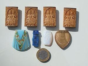 【送料無料】ブレスレット アクセサリ― ブレスレットアンティークアールデコガラスロットnice lot of elements jewelry antique art deco paste glass, 4 for bracelet