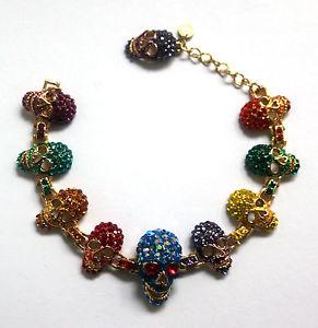 【送料無料】ブレスレット アクセサリ― バトラーウィルソンマルチクリスタルエナメルスカルブレスレットbutler and wilson multi crystal amp; enamel 10 skull bracelet