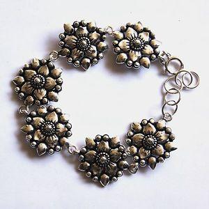 【送料無料】ブレスレット アクセサリ― ブレスレットスターリングシルバーインチbeautiful bracelets flower 925 sterling silver length 75 inch