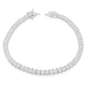 【送料無料】ブレスレット アクセサリ― スターリングシルバーテニスクリアブレスレット925 sterling silver clear princesscut cz tennis bracelet, 725