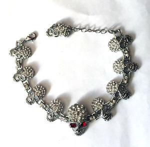 【送料無料】ブレスレット アクセサリ― バトラーウィルソンクリアクリスタルエナメルスカルブレスレットbutler and wilson clear crystal amp; enamel 10 skull bracelet