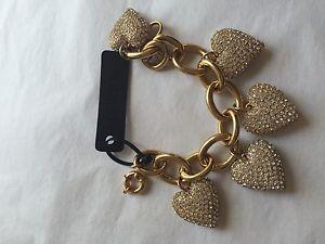 【送料無料】ブレスレット アクセサリ― ニューjブレスレット j crew bracelet brass clear crystal flower chunky heart charms