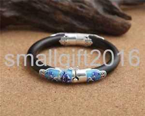 【送料無料】ブレスレット アクセサリ― スターリングシルバーブレスレットpure s925 sterling silver blossom inlaid cloisonne closed mouth womens bracelet