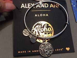 【送料無料】ブレスレット アクセサリ― アレックスアロハハワイブレスレットシルバーalex and ani aloha hawaii bracelet silver nwt