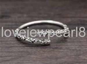 【送料無料】ブレスレット アクセサリ― スターリングシルバーレトロファッションブレスレットpure s925 sterling silver retro fashion individuality popular opening bracelet