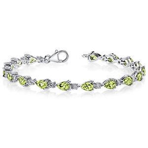 【送料無料】ブレスレット アクセサリ― グリーンペリドットスターリングシルバーブレスレット675 ct pear green peridot sterling silver bracelet