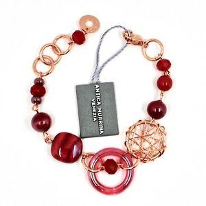 【送料無料】ブレスレット アクセサリ― ムラノガラスディスクベネチアブレスレットantica murrina venezia bracelet with red murano glass disk