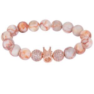 【送料無料】ブレスレット アクセサリ― 20xブレスレットamp; y5g720xstretchable sideways crown bracelet with natural stone beads amp; crystal y5g7