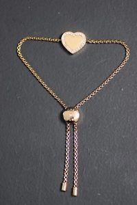 【送料無料】ブレスレット アクセサリ― ミハエルローズゴールドブレスレットmichael kors rose gold heart adjustable bracelet