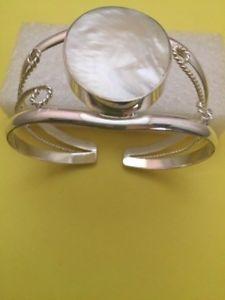 【送料無料】ブレスレット アクセサリ― パールファンシースターリングシルバーカフブレスレットwhite mother of pearl fancy sterling silver cuff bracelet healing protection