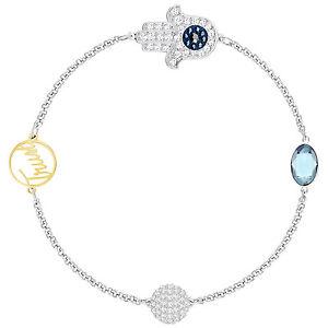 【送料無料】ブレスレット アクセサリ― スワロフスキーリミックスブレスレットドルswarovski 5365759 remix silver trust boundless bracelet 175cm rrp99