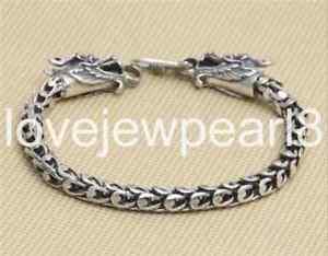 【送料無料】ブレスレット アクセサリ― スターリングシルバーダブルドラゴンスケールブレスレットpure s925 sterling silver individuality double dragons head scales bracelet