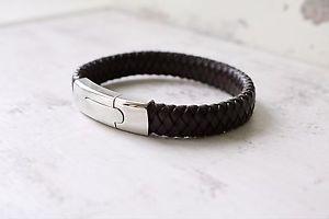 【送料無料】ブレスレット アクセサリ― ペレda uomo personalizzato braccialetto in pelle  nero marrone