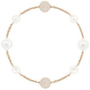 【送料無料】ブレスレット アクセサリ― スワロフスキーリミックスローズゴールドクリスタルパールブレスレットドルswarovski 5365738 remix rose gold crystal pearl boundless bracelet 175cm rrp99