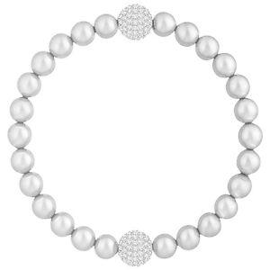 【送料無料】ブレスレット アクセサリ― スワロフスキーリミックスシルバーグレーパールブレスレットドルswarovski 5364103 remix silver grey pearl boundless bracelet 177cm rrp99