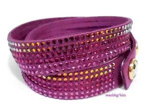 【送料無料】ブレスレット アクセサリ― スワロフスキーフクシアブレスレットクリスタルswarovski slake fuchsia bracelet, adjustable, crystal authentic mib 5035019