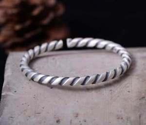 【送料無料】ブレスレット アクセサリ― スターリングシルバーハンドメイドレトロブレスレットs999 sterling silver handmade retro bracelet adjustable healing gifts 347g