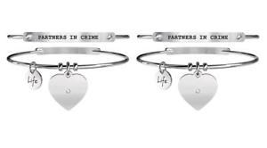 【送料無料】ブレスレット アクセサリ― スチールブレスレットパートナーyoung adult set of two steel bracelets love partners in crime 731101