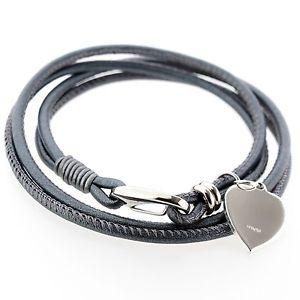 【送料無料】ブレスレット アクセサリ― ノワールナッパブレスレットアルジェントfemmes gris noir blanc cuir nappa bracelet argent 925 coeur breloque grav