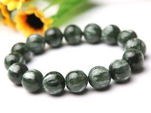 【送料無料】ブレスレット アクセサリ― クリスタルラウンドビーズブレスレットgenuine natural green seraphinite crystal round beads nice bracelet 12mm aaa