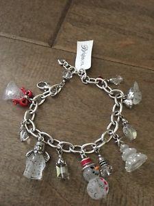 【送料無料】ブレスレット アクセサリ― ブライトンブレスレットbrighton nwt frosty holiday charm bracelet