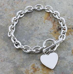 【送料無料】ブレスレット アクセサリ― レディーススターリングシルバーハートタグブレスレットladies sterling silver heart tag bracelet