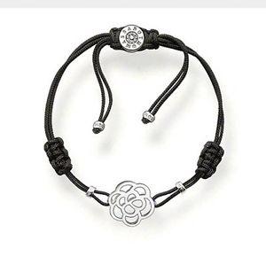 【送料無料】ブレスレット アクセサリ― トーマススターリングシルバーブレスレット¥a1161 genuine thomas sabo sterling silver flower drawstring bracelet 89