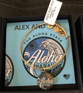 【送料無料】ブレスレット アクセサリ― alexaniハワイgold nwtalex and ani aloha hawaii bracelet gold and blue nwt