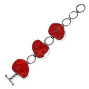 【送料無料】ブレスレット アクセサリ― スターリングリゾーツスターリングシルバーブレスレットサンゴsterling silver bracelet with coral sb1690cr75